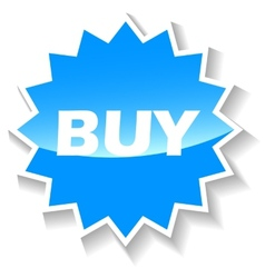 Buy blue icon vector