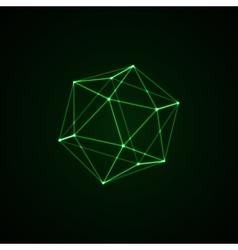 3D illuminated platonic shape vector image vector image