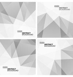 Set of light gray abstract geometric backgrounds vector