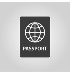 The passport icon travel symbol flat vector