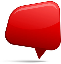 Abstract red speech bubbles vector