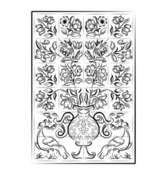 portuguese old tiles vector image