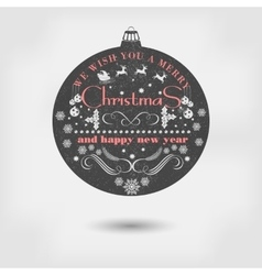 Christmas and happy new year greeting card vector