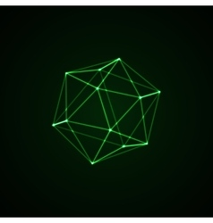 3d illuminated platonic shape vector