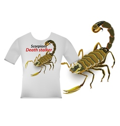 Scorpion screen on t shirt vector