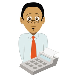 Accountant vector