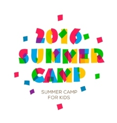 Themed summer camp 2016 poster in flat style vector