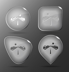 Road glass buttons vector