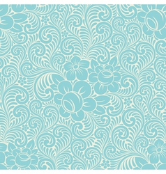 Seamless floral swirly background vector image