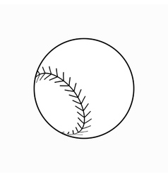 Baseball ball icon isometric 3d style vector