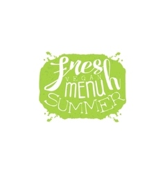 Fresh summer menu calligraphic cafe board vector