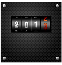 2013 new year analog counter vector