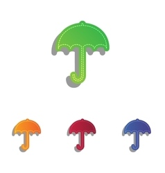 Umbrella sign icon rain protection symbol flat vector