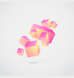 abstract 3d cubes vector image