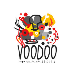 Abstract kid s style drawing for voodoo magic logo vector