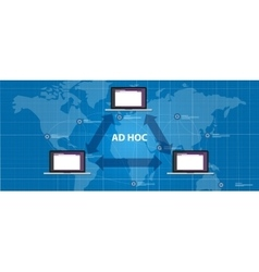 ad hoc network topology peer device connection vector image vector image
