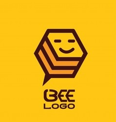 Bee logo 4 vector