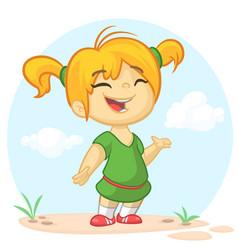 Cartoon girl dancing vector