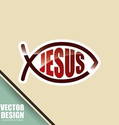 catholic icon design vector image vector image