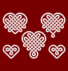chinese knots in form of heart vector image