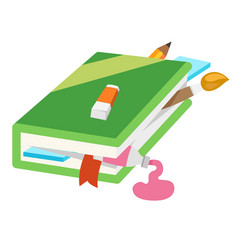 closed book vector image vector image