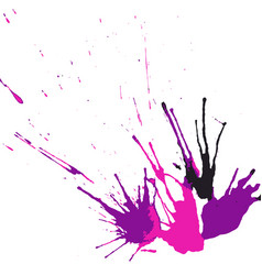 collection of hand-drawn bright splashes set of vector image