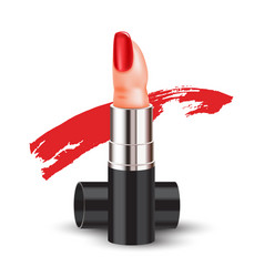 Color makeup surreal finger lipstick vector