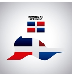 dominican republic country design vector image