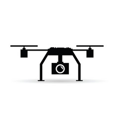 drone in black color art vector image vector image