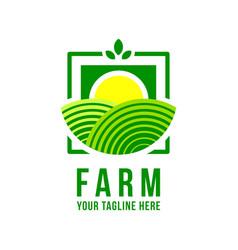 Farm logo vector