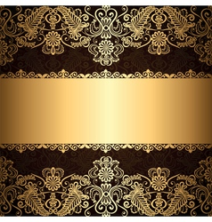 Gold patter border vector