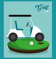 golf club car ball field vector image