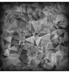 Grey polygonal background vector