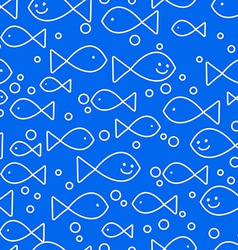 Happy fish swimming vector image vector image