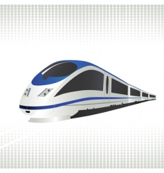 high-speed train vector image vector image