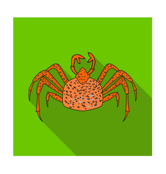 King crab icon in flat style isolated on white vector