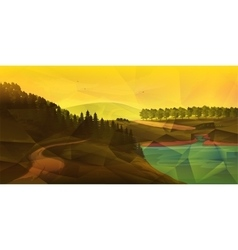 Low poly NatureLandscape vector image vector image