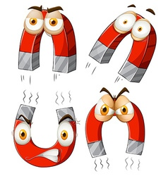 Magnet with facial expressions vector