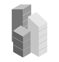 Modern buildings icon isometric 3d style vector