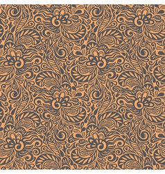 Seamless abstract curly floral pattern vector image vector image