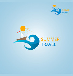 Summer travel logo vector