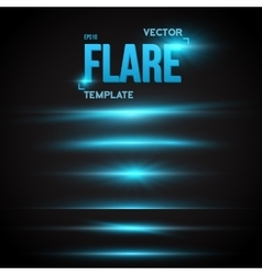 Sun lens flare effect transparent vector