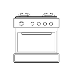 symbol of gas stove color line art vector image vector image
