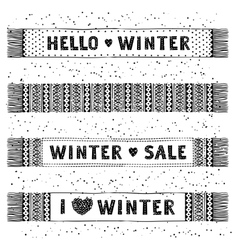 Winter Special banner or label with knitted woolen vector image vector image