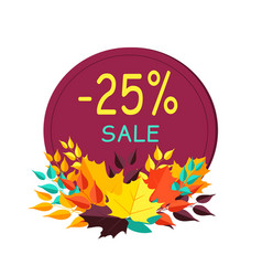 -25 sale sticker and image on vector image vector image