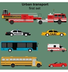 Collection of municipal transport vector