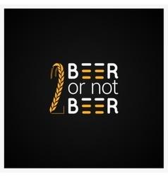 Beer concept logo design background vector