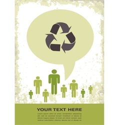 Retro recycling eco poster vector