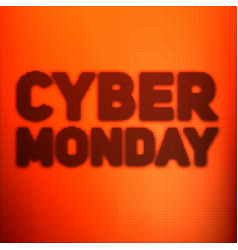 Cyber monday sale background with vector