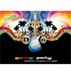 Tropical music event flyer vector